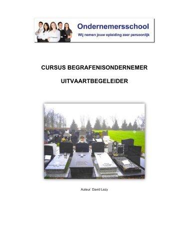 CURSUS BEGRAFENISONDERNEMER UITVAARTBEGELEIDER