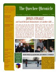 Volume 3 Issue 9 - Quechee Ski Team