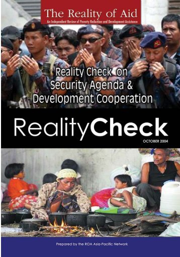 Reality Check on Security Agenda and Development ... - Reality of Aid