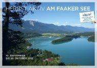 Herbst AKTIV Programm 2012 - Region Villach