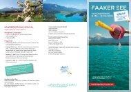 Folder Faaker See Opening 2013 - Region Villach