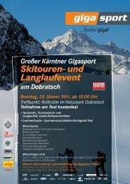 Skitouren- und Langlaufevent - Region Villach