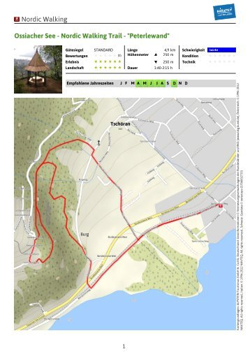 "Nordic Walking Trail - ""Peterlewand"" - Region Villach"