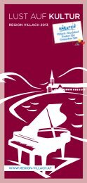 Lust auf Kultur 2013 - Region Villach