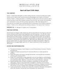 Import and Export-Traffic Analyst - Rodan + Fields