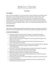 Scrum Master THE COMPANY Rodan + Fields® Dermatologists is a ...