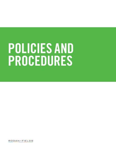 Consultant Policies And Procedures Rodan Fields