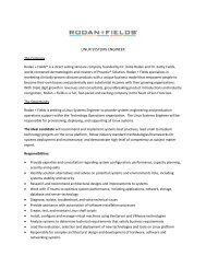 Linux Systems Engineer THE COMPANY Rodan + Fields ...