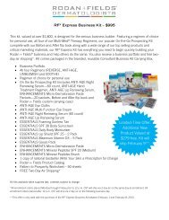 Additional New Product Valued at $279 free. Kit ... - Rodan + Fields