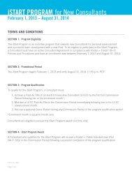 iSTART PROGRAM for New Consultants - Rodan + Fields