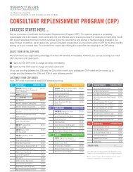 CONSULTANT REPLENISHMENT PROGRAM (CRP) - Rodan + Fields