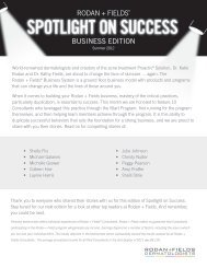 RODAN + FIELDS® BUSINESS EDITION