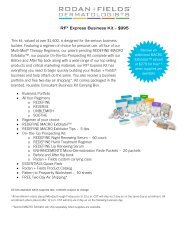 RFX Express Business Kit – $995 This kit, valued ... - Rodan + Fields
