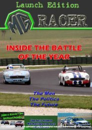 Issue #1 - MG Racing