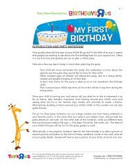 introduction and party invitations - Toys R Us Birthday Club