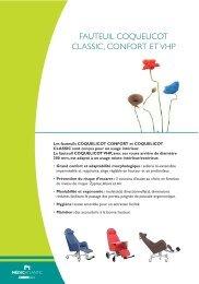 FAUTEUIL COQUELICOT CLASSIC, CONFORT ET VHP - Hacavie