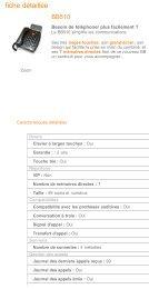 Geemarc BB510 - Telephones - Fixe - Francetelecom.fr - Hacavie