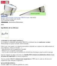 Mitigeur thermostatique pour douche | Presto - Hacavie