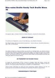 Bloc-notes Braille Handy Tech Braille Wave 40 - Hacavie