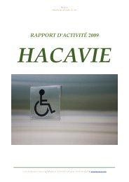 RAPPORT D'ACTIVITÉ 2009 - Hacavie