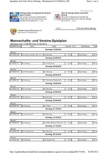 Aktueller Spielplan der 1. Mannschaft 2012/2013 - SG Eintracht ...