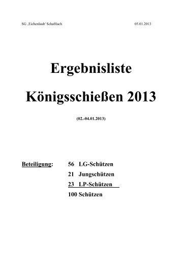 Ergebnisse - SG Eichenlaub in Schaftlach
