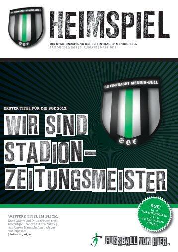 ERSTER TITEL FüR DIE SGE 2013 - SG Eintracht Mendig/Bell