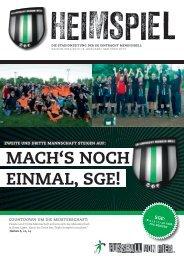 Mach'S noch EinMal, SGE! - SG Eintracht Mendig/Bell