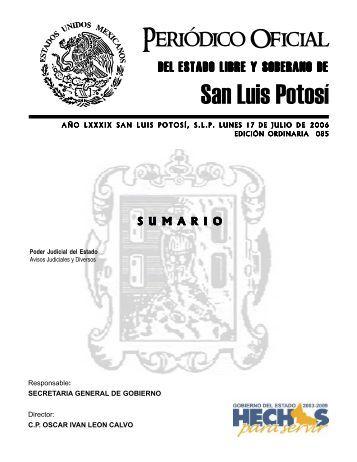 San Luis Potosí - Secretaría General de Gobierno - Gobierno del ...