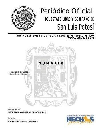 Periódico Oficial - Sgg.slp.gob.mx - Gobierno del Estado