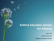 Asthma Education Service For Patients - Singapore General Hospital