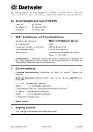 Zubereitungs- und Firmenbezeichnung MDC TJ Antischaum Spezial ...