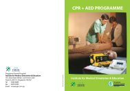 CPR + AED PROGRAMME - Singapore General Hospital