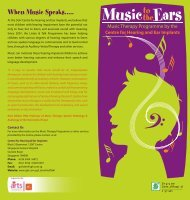 Want to know more about Music Therapy Programme - Singapore ...