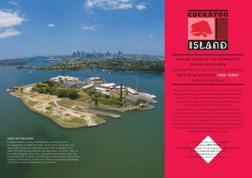 Cockatoo Island hosts 120 works by 56 artists - 17th Biennale of ...