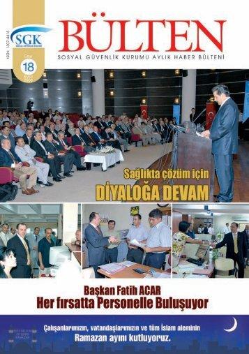 Sayı 18 ( Eylül 2008 ) - Sosyal Güvenlik Kurumu