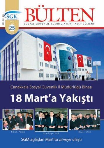 Sayı 25( Nisan 2009) - Sosyal Güvenlik Kurumu