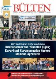 Sayı 20 ( Kasım 2008) - Sosyal Güvenlik Kurumu