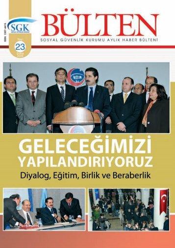 Sayı 23 ( Şubat 2009) - Sgk