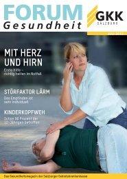 Ausgabe Juli 2013 - bei der Salzburger Gebietskrankenkasse