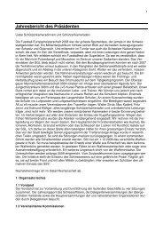 Jahresbericht des Präsidenten - Schützengesellschaft Langenthal