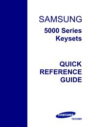 Samsung_5000_Series_Keyset quick reference