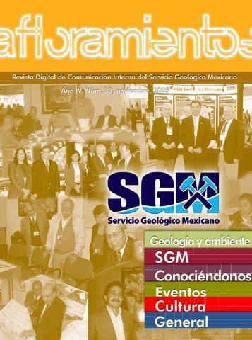 Afloramientos Nov05 - Servicio Geológico Mexicano
