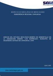 3 - Servicio Geológico Mexicano