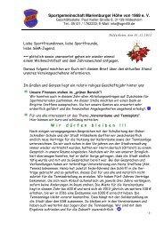 Jahresbrief 2013 - SGM-Hildesheim