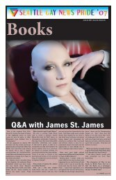 Q&A with James St. James - Seattle Gay News