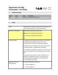 Eidgenössische Berufsprüfung Unternehmens - SGO