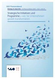 Strategische Initiativen und Programme – wie Sie ... - SGO
