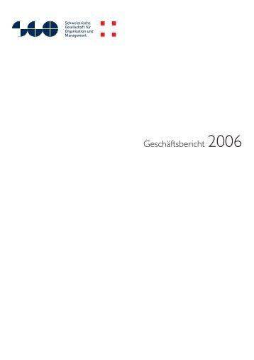 Geschäftsbericht 2006 - SGO