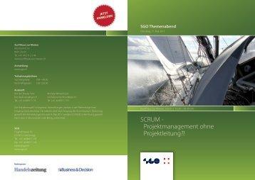 SCRUM - Projektmanagement ohne Projektleitung?! - SGO